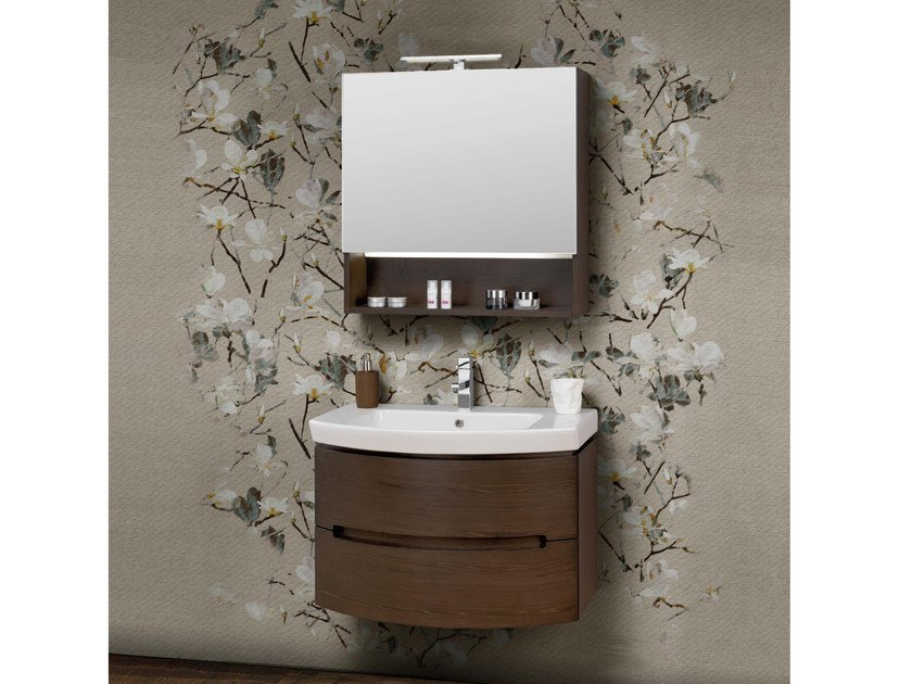 Contemporary style single vanity unit DR10 by Mobiltesino
