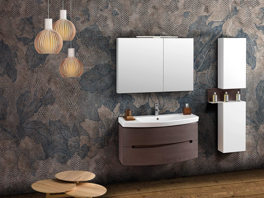 Contemporary style single vanity unit DR11 by Mobiltesino