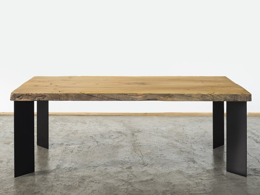 Rectangular reclaimed wood dining table DRAGANZIOLO by A&B Rosa dei Legni