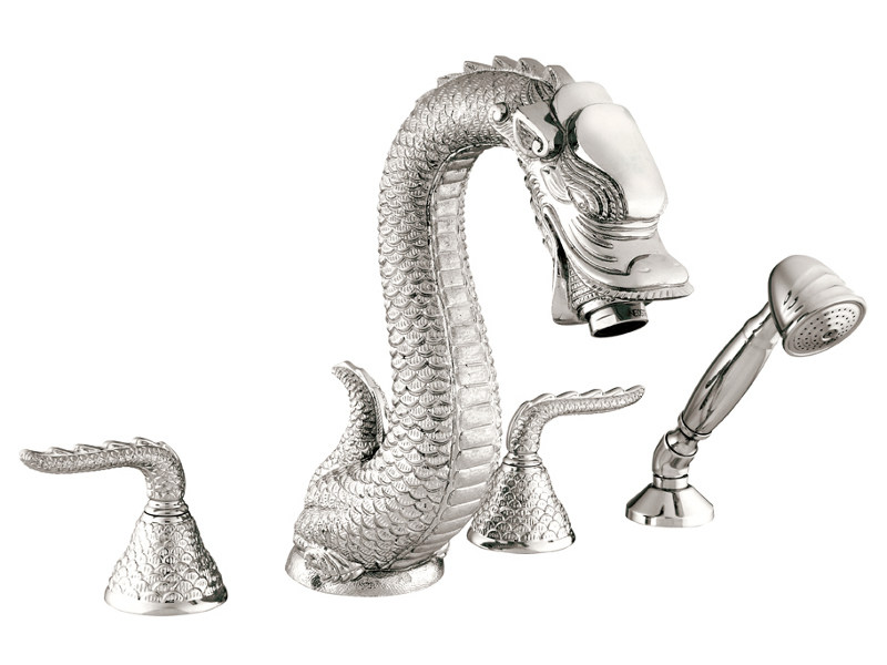 4 hole bathtub set DRAGON | Bathtub set by Bronces Mestre