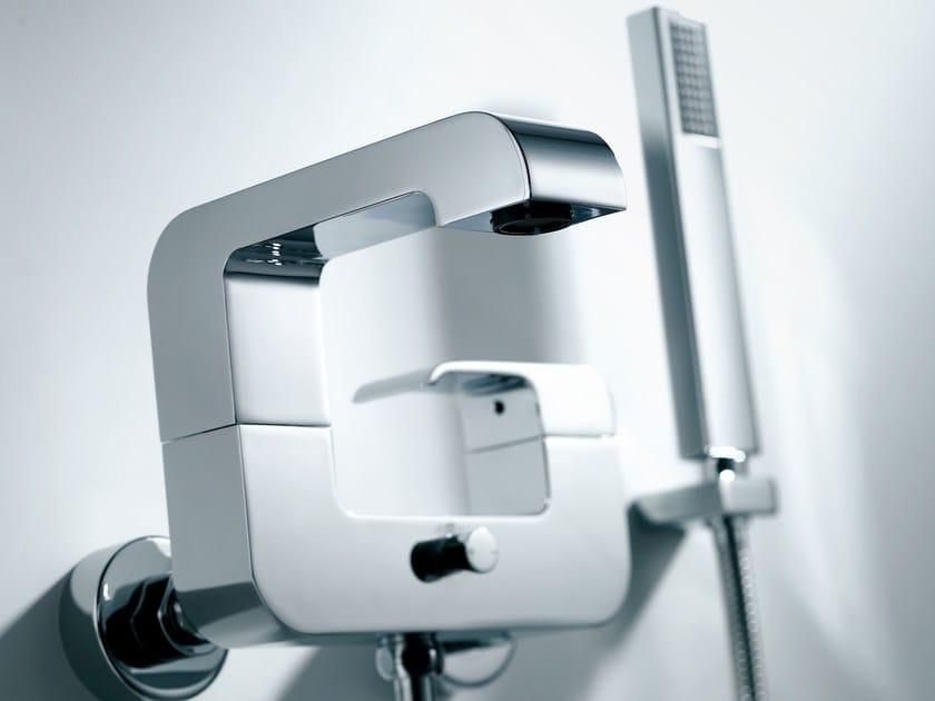 Miscelatore per doccia monocomando in ottone cromato con doccetta DRAGON | Miscelatore per doccia con doccetta by JUSTIME