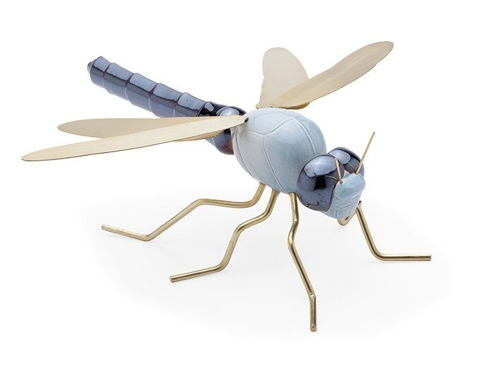 Ceramic decorative object DRAGONFLY BLUE by Mambo Unlimited Ideas