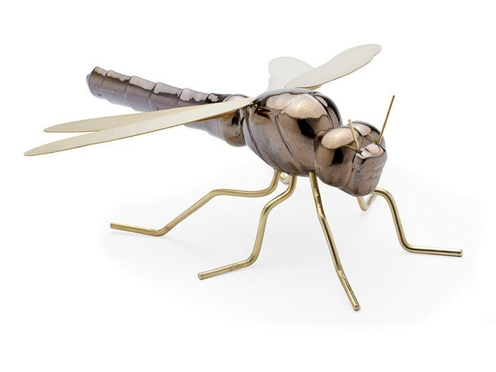 Ceramic decorative object DRAGONFLY GOLD by Mambo Unlimited Ideas
