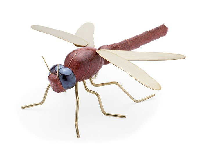 Ceramic decorative object DRAGONFLY RED by Mambo Unlimited Ideas