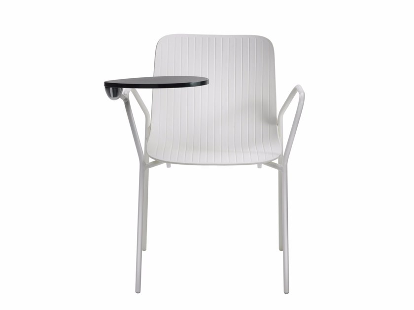 Polypropylene training chair with writing tablet DRAGONFLY S0027B by Segis