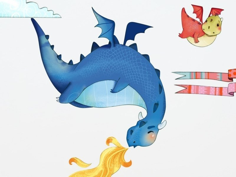 Kids wall sticker DRAGONS by ACTE-DECO