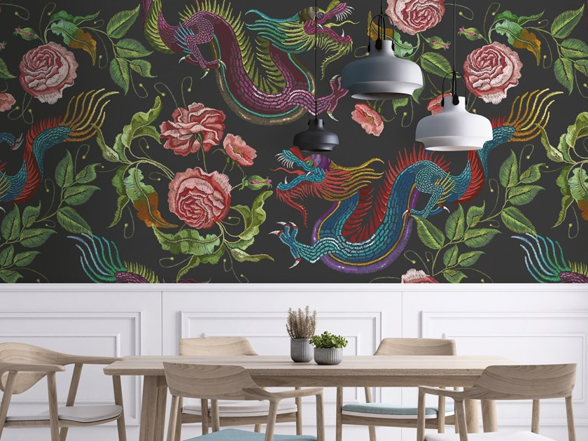 Washable wallpaper DRAGONS by Baboon