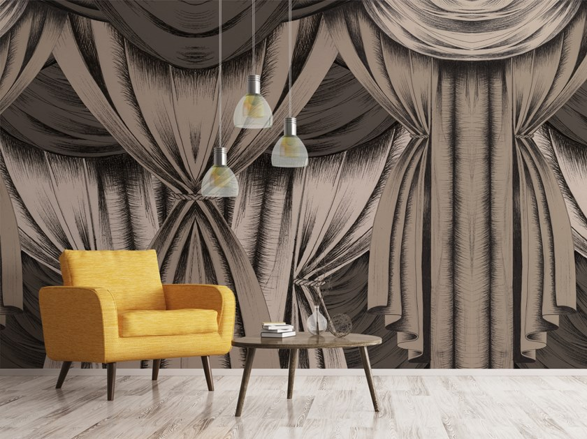 Washable vinyl wallpaper DRAPES by Baboon
