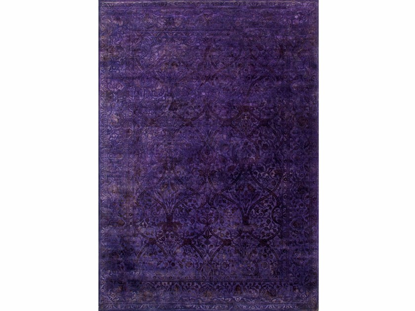 Solid-color rug DRASS NE-2349 African Violet by Jaipur Rugs