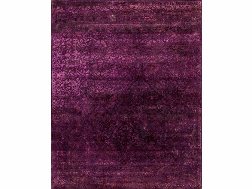 Solid-color rug DRASS NE-2349 Italian Plum by Jaipur Rugs