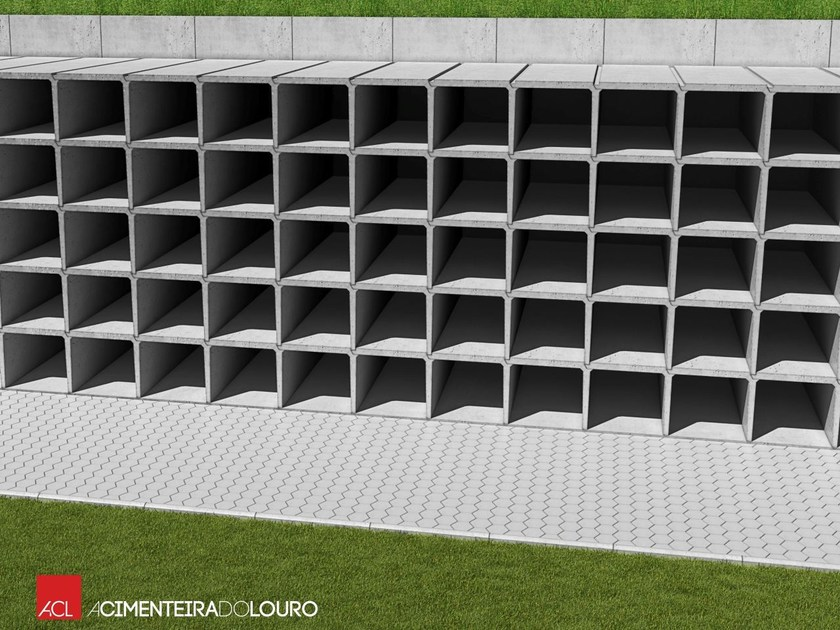 Precast reinforced concrete structural component DRAWERS FOR GRAVES by ACL