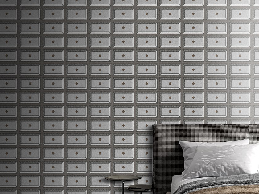 Motif vinyl wallpaper DRAWERS by Baboon
