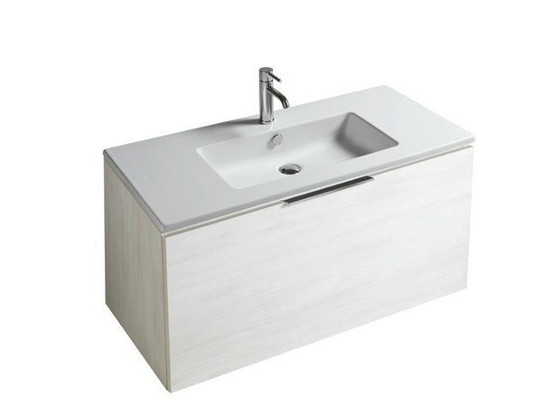 Lacquered wall-mounted vanity unit with drawers DREAM - 7244 by GALASSIA