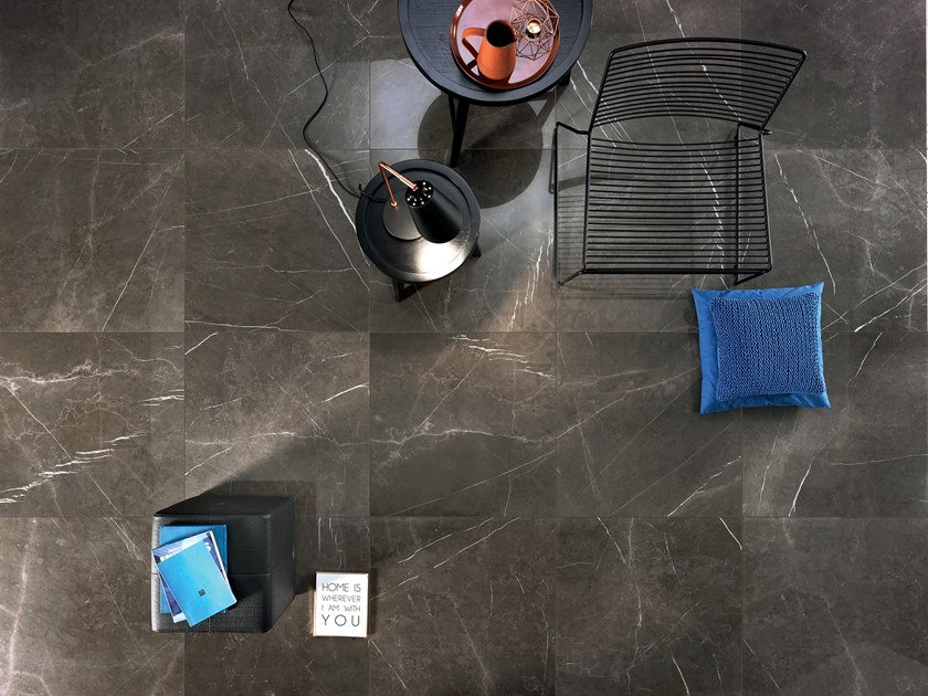 Porcelain stoneware flooring with marble effect DREAMING GRAY STONE by LEA CERAMICHE