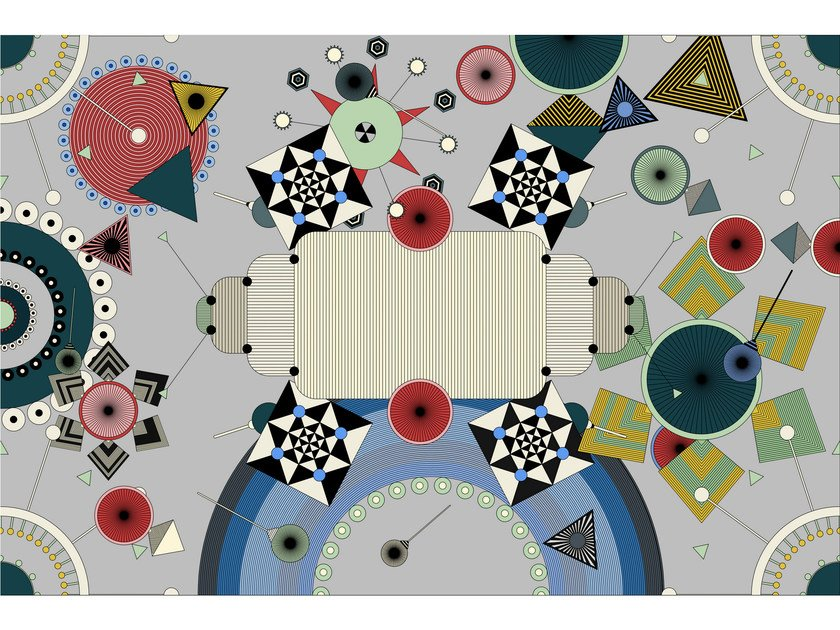 Patterned rectangular fabric rug DREAMSTATIC by moooi