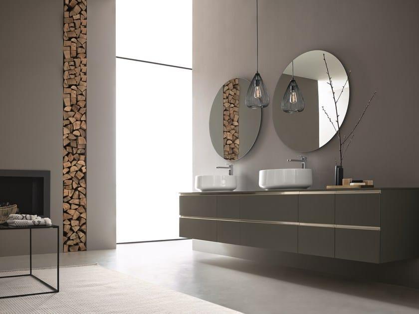 Mobile lavabo doppio sospeso con specchio dress 05 collezione dress 2017 by arblu - Lavello cucina rotondo ...