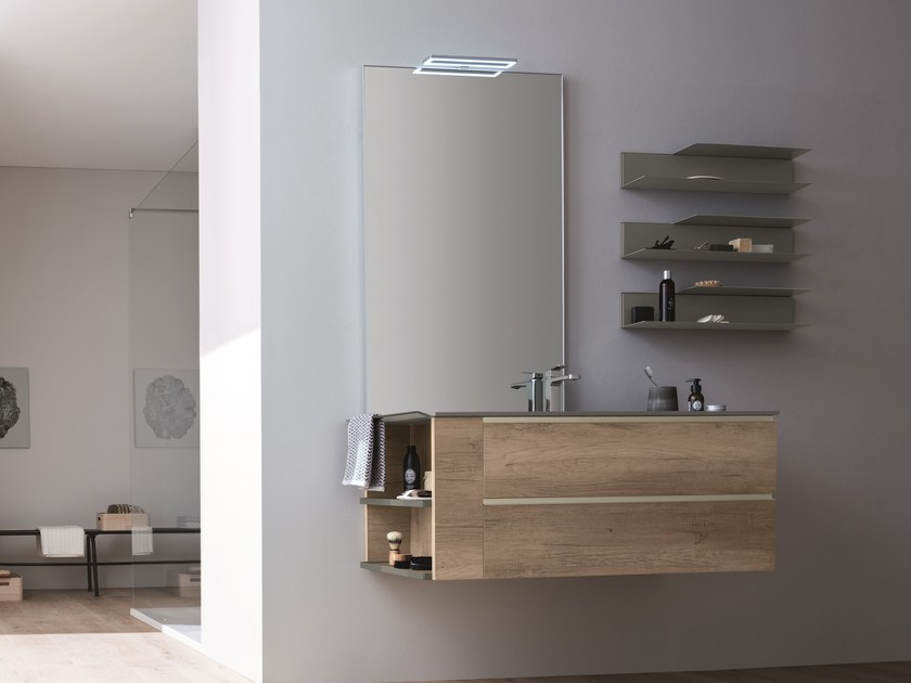 Wall-mounted vanity unit with drawers DRESS 06 by ARBLU