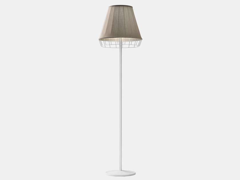 LED fabric floor lamp DRESS D1 by Il Fanale