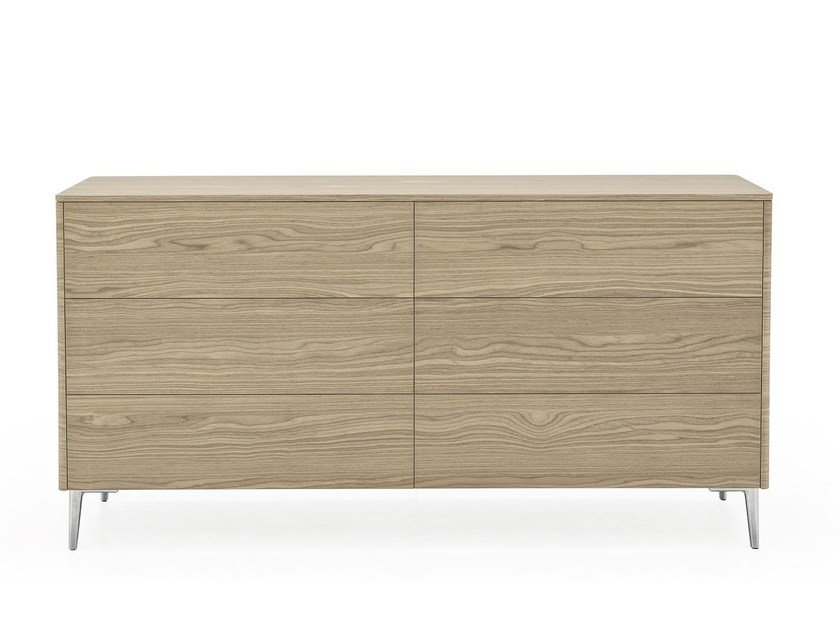 Wood veneer chest of drawers BOSTON | Chest of drawers by Calligaris