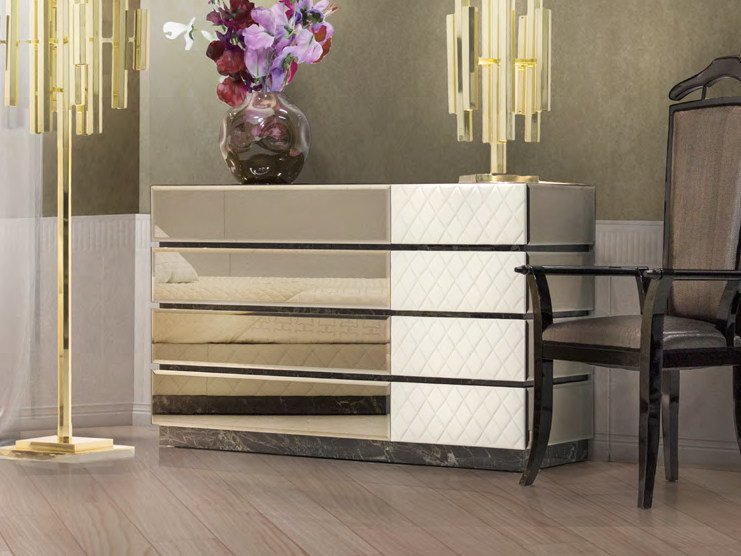 Mirrored glass chest of drawers ROYAL | Chest of drawers by Formitalia