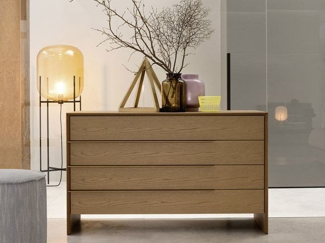 Oak chest of drawers PLATONE | Chest of drawers by Novamobili