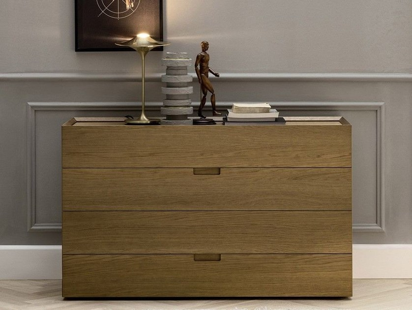 Oak chest of drawers QUARANTACINQUE | Chest of drawers by Novamobili