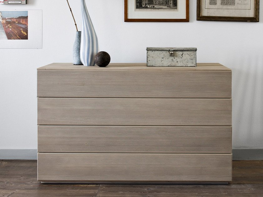 Spruce chest of drawers QUADRA | Chest of drawers by Scandola Mobili
