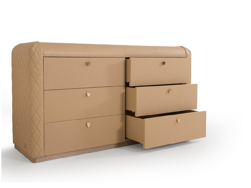 Leather chest of drawers KYALAMI | Chest of drawers by Tonino Lamborghini Casa