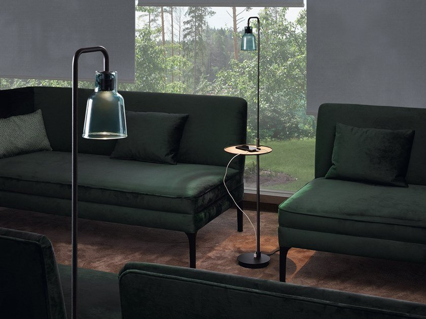 LED floor lamp DRIP P/131 by BOVER