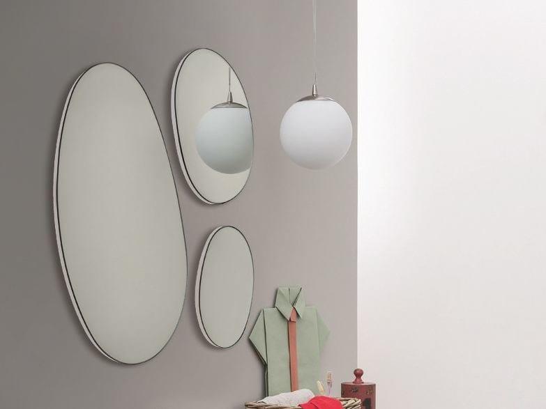 Wall-mounted bathroom mirror DROP by Birex