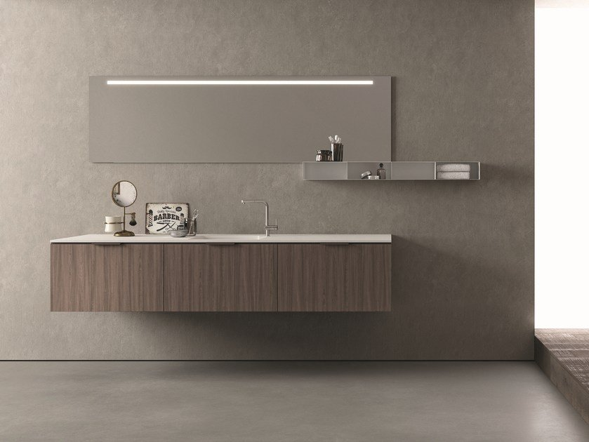 Sectional vanity unit DROP - COMPOSITION D07 by NOVELLO