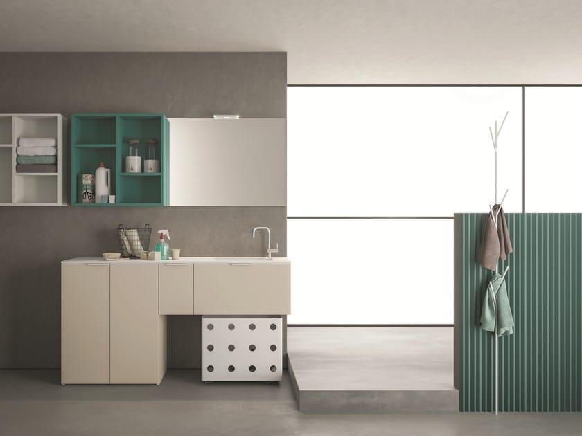 Mobile lavanderia componibile DROP - COMPOSIZIONE D12 by NOVELLO