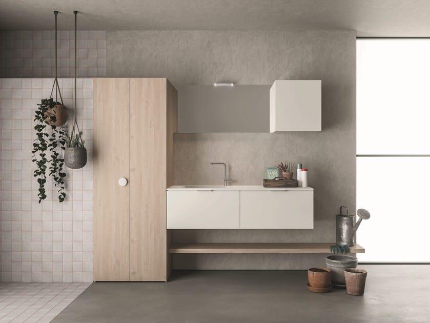 Mobile lavanderia a colonna DROP - COMPOSIZIONE D13 by NOVELLO