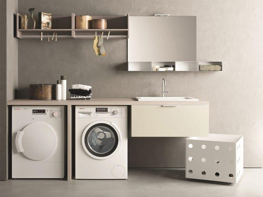 Mobile lavanderia componibile DROP - COMPOSIZIONE D15 by NOVELLO