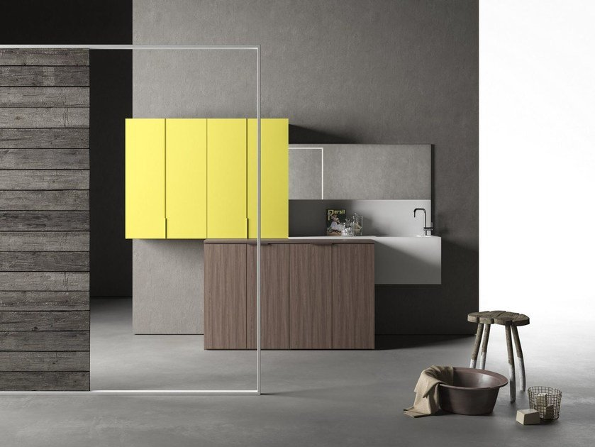 Mobile lavanderia componibile DROP - COMPOSIZIONE D01 by NOVELLO