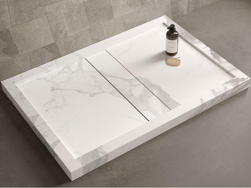 Rectangular porcelain stoneware shower tray DROP by Italgraniti