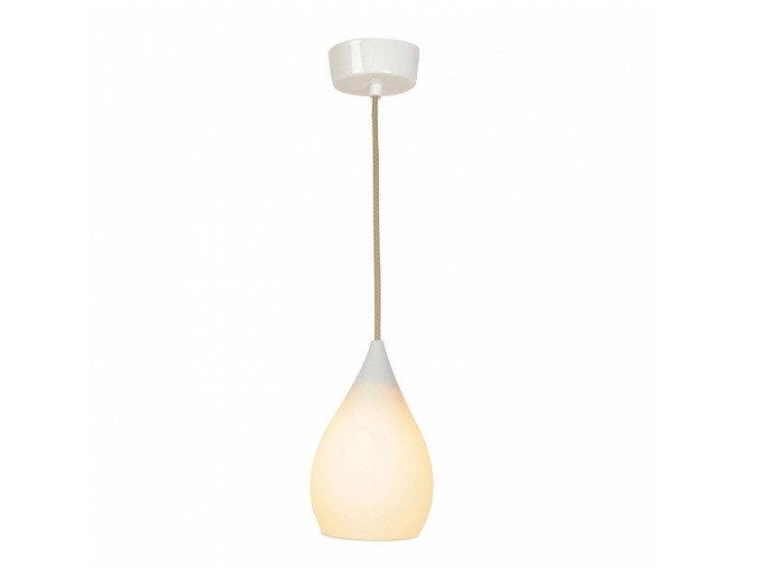 Porcelain pendant lamp with dimmer DROP ONE SMALL by Original BTC