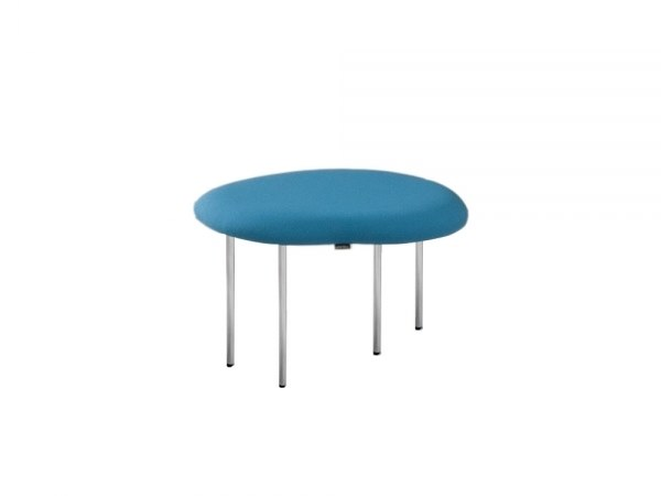 Low upholstered fabric stool DROPLETS 181 by Capdell