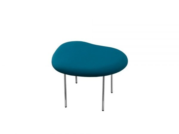 Low upholstered fabric stool DROPLETS 182 by Capdell