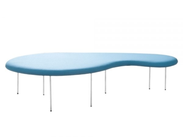 Upholstered fabric bench seating DROPLETS 186 by Capdell