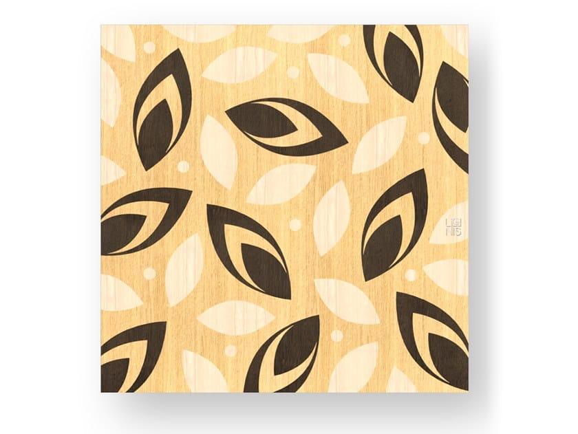 Quadro in legno intarsiato DROPS WARM by LIGNIS®