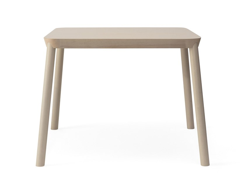 Square beech dining table DRUM | Square table by BILLIANI