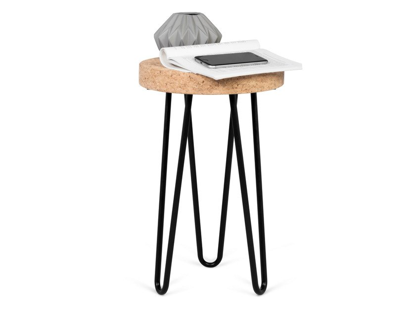 Cork side table DRUM by TemaHome