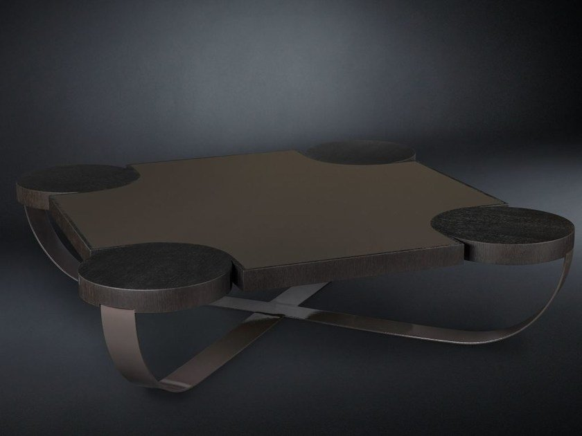 Low square oak coffee table DRUMMOND | Coffee table by VGnewtrend