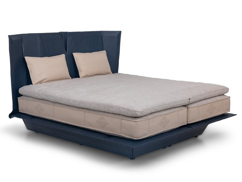 Leather bed double bed DS-1155   Bed by de Sede