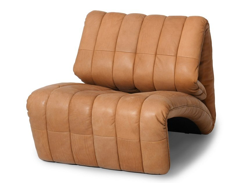Recliner leather armchair DS-266   Leather armchair by de Sede