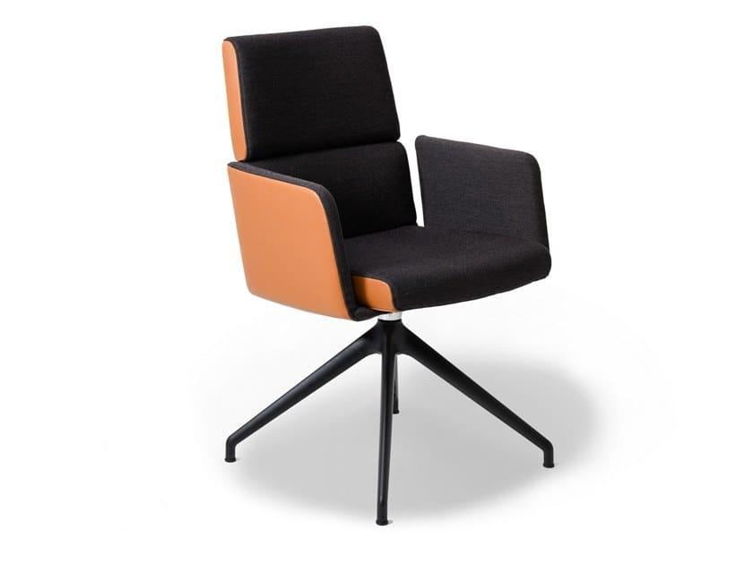 Sedia ufficio su trespolo con braccioli DS-414 | Sedia ufficio con braccioli by de Sede
