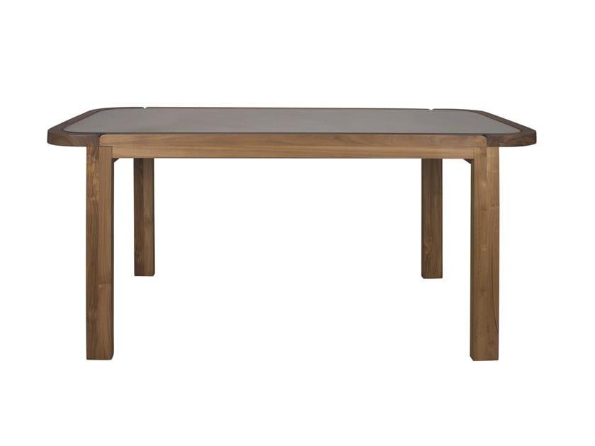 Rectangular wood and glass garden table DUAL   Table by Il Giardino di Legno