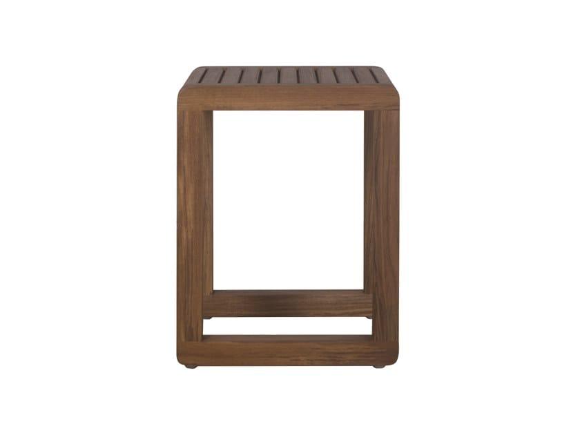 Square teak coffee table DUAL   Teak coffee table by Il Giardino di Legno