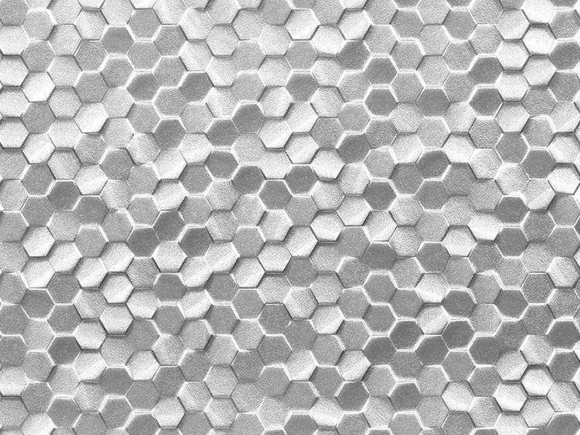 3D Wall Cladding with metal effect DUBAI SILVER by Venis